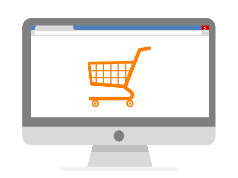 online-shopping cinza