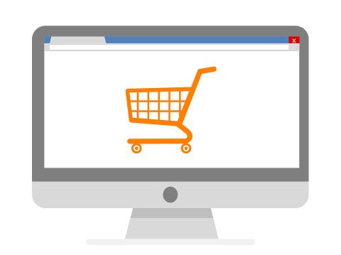 online-shopping cinza